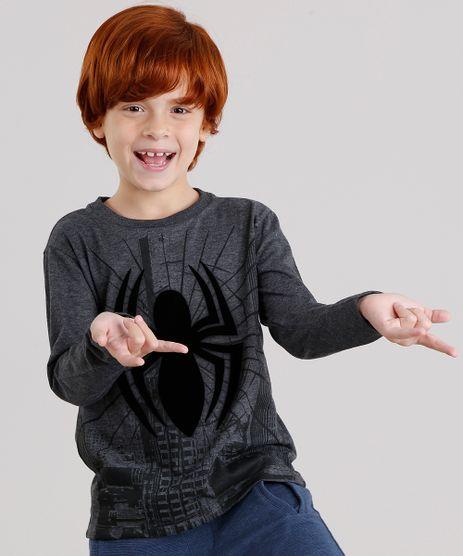 Camiseta-Infantil-Homem-Aranha-Manga-Longa-Gola-Careca-Cinza-Mescla-Escuro-9139713-Cinza_Mescla_Escuro_1