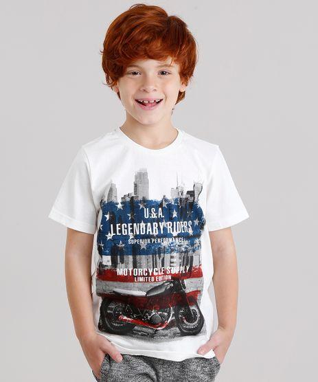 Camiseta-Infantil--Motorcycle--Manga-Curta-Gola-Careca-em-Algodao---Sustentavel-Off-White-9135342-Off_White_1