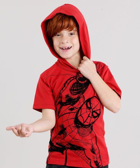 Camiseta-Infantil-Homem-Aranha-com-Capuz-Manga-Curta-Vermelha-9142121-Vermelho_1