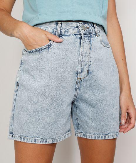 Bermuda-Jeans-Feminina-Cintura-Super-Alta-Marmorizada-Azul-Claro-9982414-Azul_Claro_1
