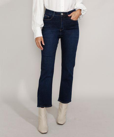 Calca-Jeans-Feminina-Cintura-Alta-Flare-Cropped-Azul-Escuro-9982427-Azul_Escuro_1