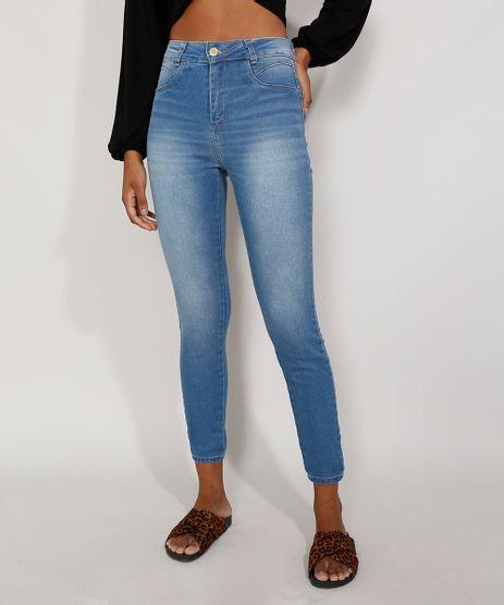 Calca-Jeans-Feminina-Cintura-Alta-Sawary-Skinny-Heart-Azul-Claro-9984357-Azul_Claro_1