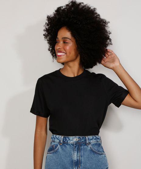 Camiseta-Feminina-Manga-Curta-Basica-Ampla-Decote-Redondo-Preta-9980091-Preto_1