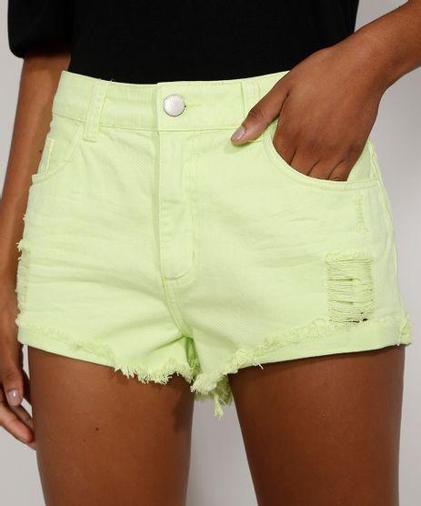 Short-de-Sarja-Feminino-Boy-Cintura-Media-Destroyed-com-Barra-Desfiada-Verde-Neon-9978123-Verde_Neon_1