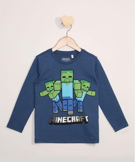 Camiseta-Infantil-Manga-Longa-Minecraft-Azul-9978975-Azul_1