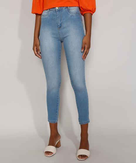 Calca-Jeans-Feminina-Cintura-Alta-Sawary-Skinny-Super-Lipo-Azul-Claro-9983857-Azul_Claro_1