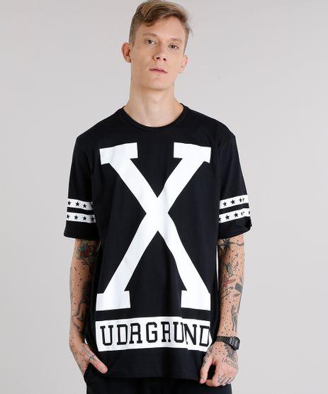 Camiseta-Masculina-Ampla--UDRGROUND--Manga-Curta-Decote-Careca-Preta-9152165-Preto_1