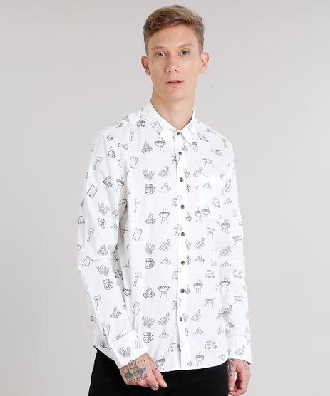 Camisa-Masculina-Estampada-com-Bolso-Manga-Longa-Off-White-8886263-Off_White_1