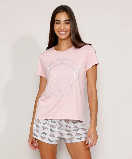 Pijama-Feminino-Manga-Curta-Mulher-Maravilha-Metalizado-Rosa-Claro-9974710-Rosa_Claro_1