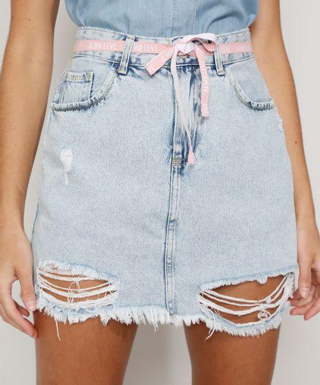 Saia-Jeans-Feminina-Curta-Destroyed-com-Cinto-Cadarco-Azul-Claro-9983320-Azul_Claro_1