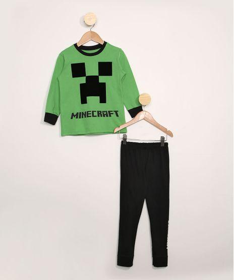 Pijama-Infantil-Manga-Longa-Minecraft-Verde-9978425-Verde_1