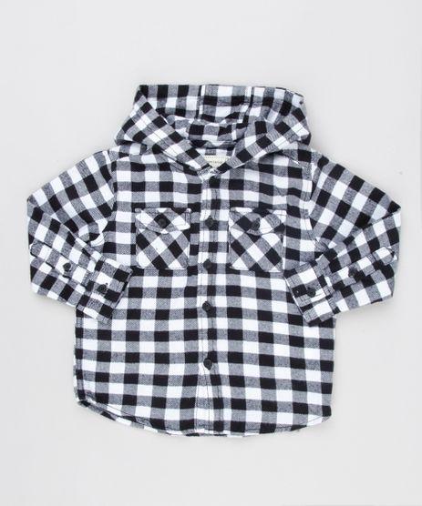 Camisa-Infantil-Xadrez-em-Flanela-com-Capuz-Manga-Longa-Preta-8853428-Preto_1