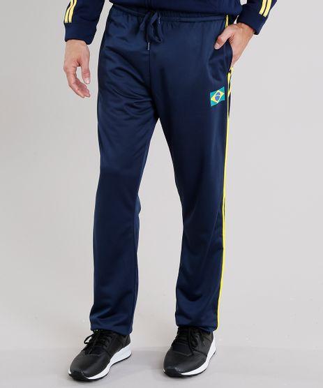 Calca-Masculina-Esportiva-Brasil-Ace-em-Moletom-com-Listras-Laterais-Azul-Marinho-8842250-Azul_Marinho_1