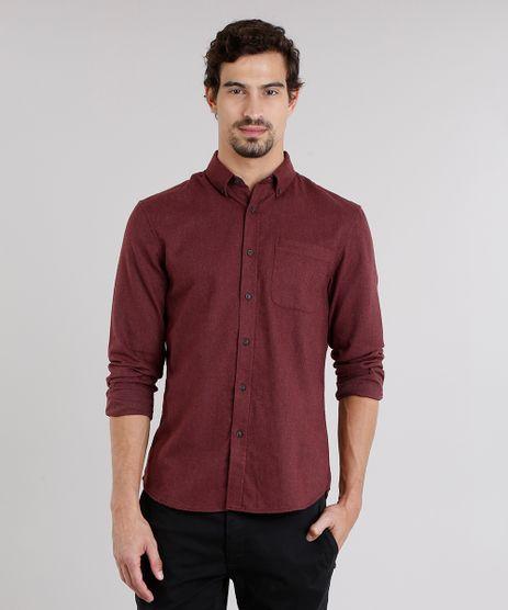 Camisa-Masculina-Comfort-em-Flanela-Manga-Longa-Vinho-8860673-Vinho_1