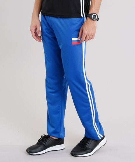 Calca-Masculina-Esportiva-Russia-Ace-em-Moletom-com-Listras-Laterais-Azul-Royal-8842250-Azul_Royal_1