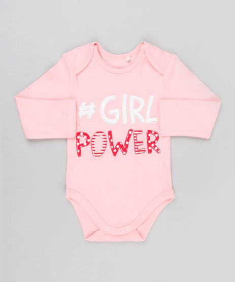 Body-Infantil--Girl-Power--Manga-Longa-Decote-Redondo-em-Algodao---Sustentavel-Rosa-8919195-Rosa_1