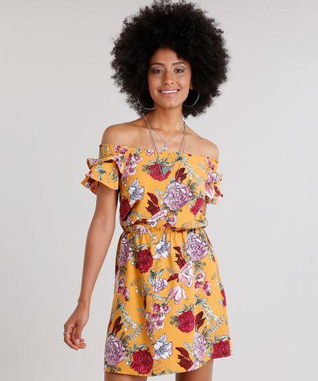 Vestido-Feminino-Ciganinha-Estampado-Floral-com-Babados-Curto-Amarelo-8889095-Amarelo_1