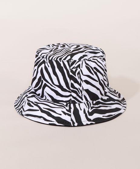 Bucket-Hat-Feminino-Dupla-Face-Estampado-Animal-Print-Zebra-Preto-9983064-Preto_1