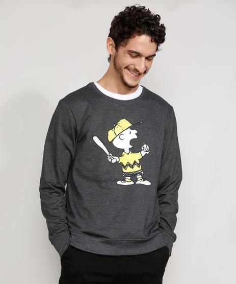 Blusa-de-Moletom-Masculina-Charlie-Brown-Snoopy-Gola-Careca-Cinza-Mescla-Escuro-9976507-Cinza_Mescla_Escuro_1