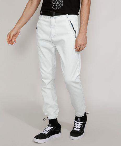 Calca-Jeans-Masculina-Jogger-Slim-com-Cinto-e-Bolso-de-Ziper-Azul-Claro-9981197-Azul_Claro_1