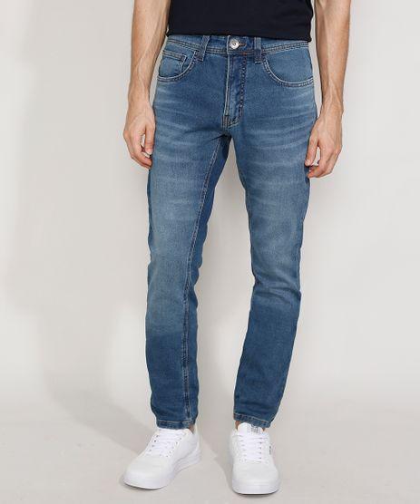 Calca-Jeans-Masculina-Skinny-em-Moletom-Azul-Medio-9981220-Azul_Medio_1