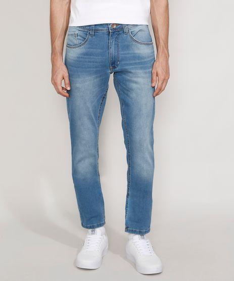 Calca-Jeans-Masculina-Slim-em-Moletom-Azul-Claro-9982598-Azul_Claro_1