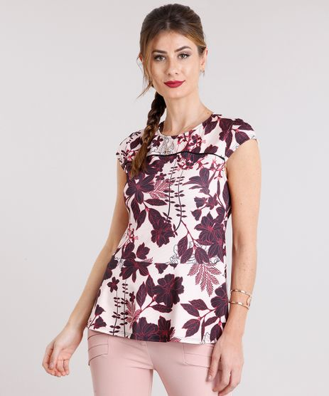 Blusa-Feminina-Peplum-Estampada-Floral-Manga-Curta-Rose-9111856-Rose_1
