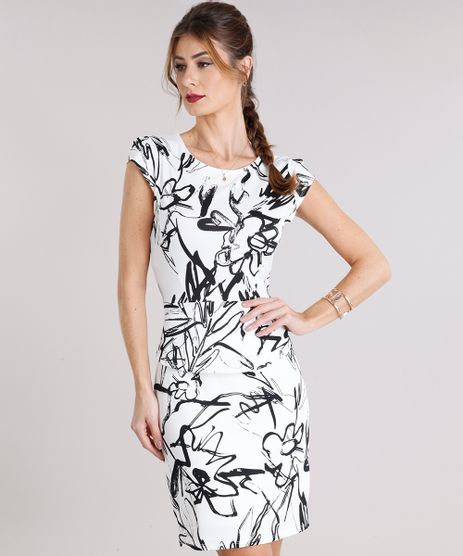 Vestido-Feminino-Estampado-Floral-Curto-Manga-Curta-Off-White-8954177-Off_White_1