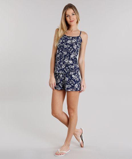 Short-Doll-Feminino-Estampado-Floral-com-Alca-Fina-Azul-Marinho-9134869-Azul_Marinho_1