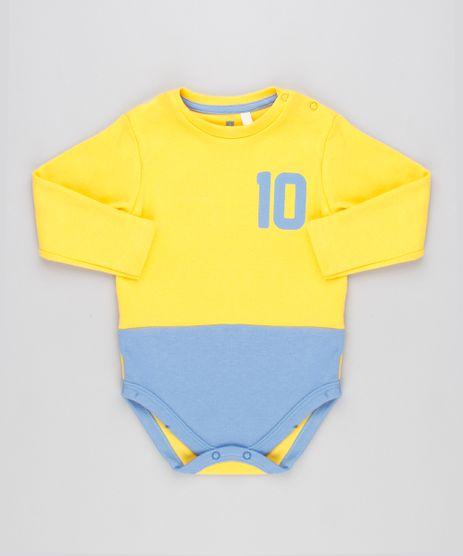 Body-Infantil-Brasil-Camisa-10-com-Recorte-Manga-Longa-Decote-Redondo-Amarelo-9154234-Amarelo_1