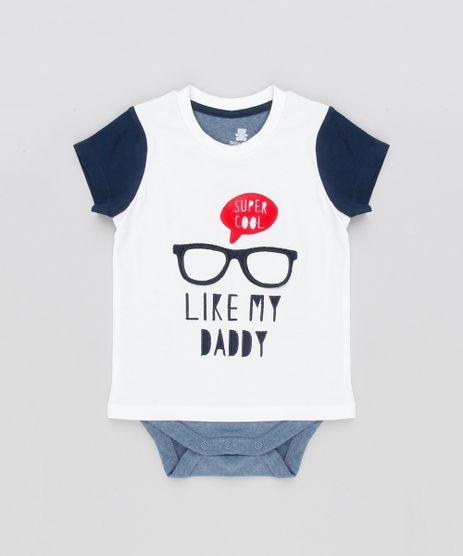 Body-Camiseta-Infantil-com-Estampa-Interativa-Oculos-Manga-Curta-Gola-Careca-em-Algodao---Sustentavel-Off-White-8908944-Off_White_1