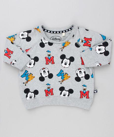 Blusao-Infantil-Estampado-Turma-do-Mickey-em-Moletom-Manga-Longa-Gola-Careca-Cinza-Mescla-9140242-Cinza_Mescla_1