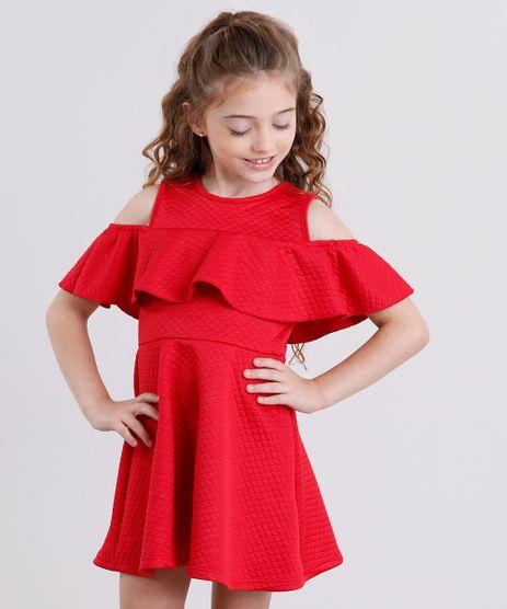 Vestido-Infantil-Open-Shoulder-Matelasse-com-Babado-Manga-Curta-Vermelho-9140689-Vermelho_1