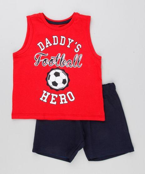 Conjunto-de-Regata--Football--Vermelha---Bermuda-em-Moletom-Azul-Marinho-9154907-Azul_Marinho_1