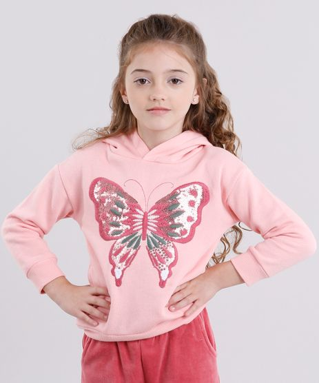 Blusao-Infantil-em-Moletom-Bordado-com-Paetes-Gola-com-Capuz-Rosa-8863323-Rosa_1