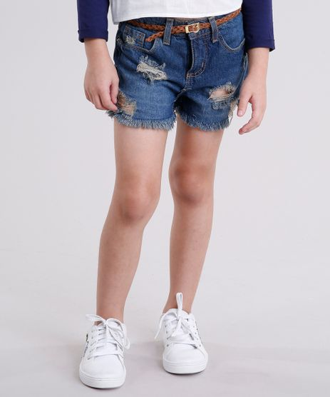 Short-Jeans-Infantil-Destroyed-com-Cinto-Trancado-Azul-Escuro-9142016-Azul_Escuro_1