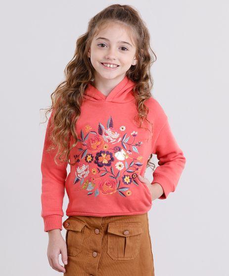 Blusao-Infantil-em-Moletom-Bordado-com-Paetes-Gola-com-Capuz-Coral-8862465-Coral_1