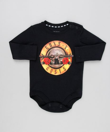 Body-Infantil-Guns-N--Roses-Manga-Longa-Decote-Redondo-Preto-9134010-Preto_1