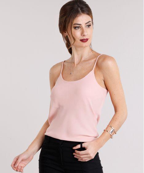 30cba638a0 Regata-Feminina-Basica-com-Alcas-Rose-8926426-Rose 1 ...