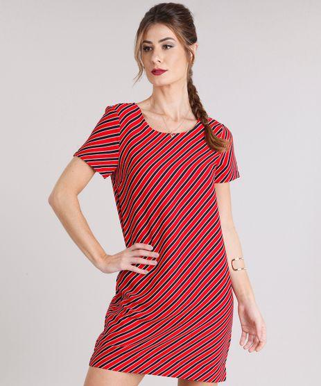 Vestido-Feminino-Listrado-Curto-Manga-Curta-Vermelho-8891640-Vermelho_1