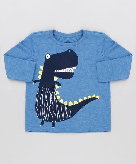 Camiseta-Infantil-Dinossauros-Manga-Longa-Gola-Careca-Azul-9129057-Azul_1