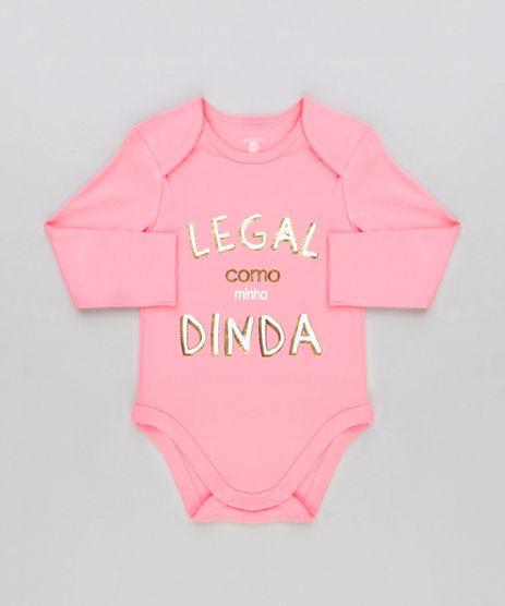 Body-Infantil--Legal-Como-Minha-Dinda--Manga-Longa-Decote-Redondo-em-Algodao---Sustentavel-Rosa-8920257-Rosa_1