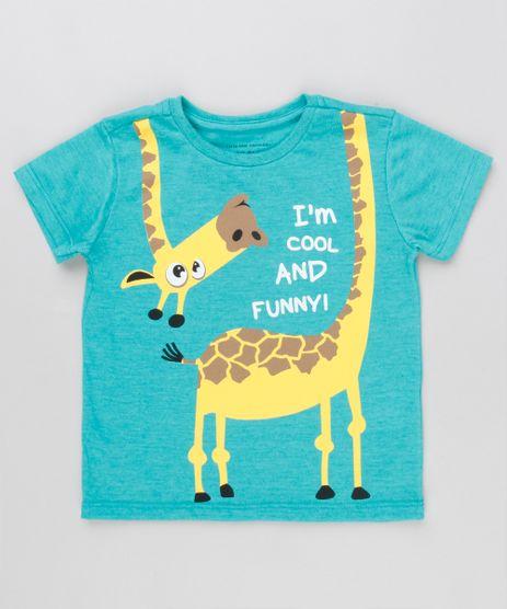 Camiseta-Infantil-divertida-Girafa-Manga-Curta-Gola-Careca-Verde-9129206-Verde_1