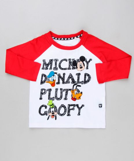 Camiseta-Infantil-Raglan-Turma-do-Mickey-Manga-Longa-Gola-Careca-em-Algodao---Sustentavel-Azul-Royal-9140169-Azul_Royal_1