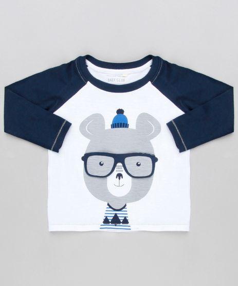 Camiseta-Infantil-Raglan-com-Estampa-Interativa-Urso-com-Oculos-Manga-Longa-Gola-Careca-Off-White-9140352-Off_White_1