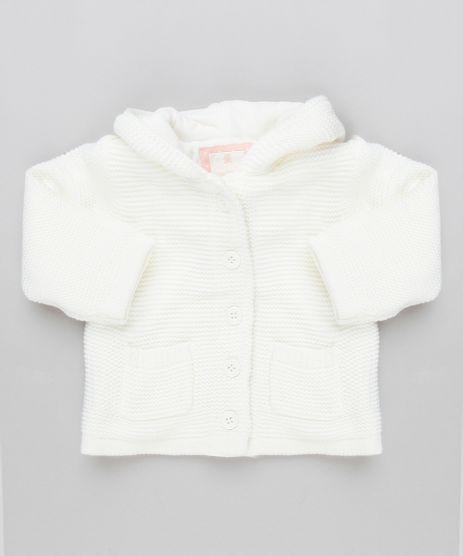 Casaco-Infantil-em-Trico-com-Capuz-de-Orelhinhas-e-Forro-em-Plush-Off-White-8953685-Off_White_1