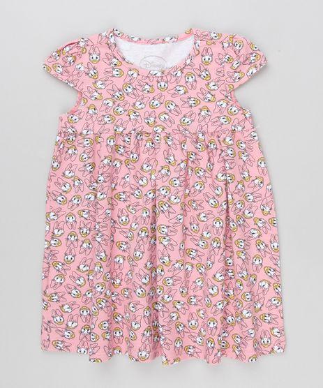 Vestido-Infantil-Margarida-Estampado-Manga-Curta-Decote-Redondo-em-Algodao---Sustentavel-Rosa-9169077-Rosa_1
