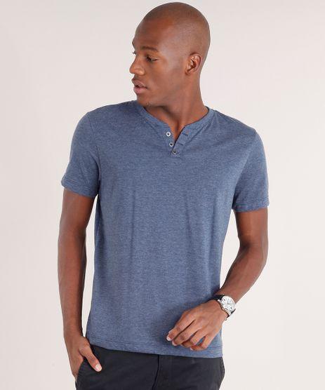 Camiseta-Masculina-Basica-com-Botoes-Manga-Curta-Azul-Marinho-8548141-Azul_Marinho_1