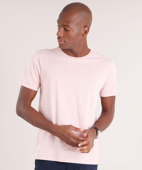 Camiseta-Masculina-Basica-Listrada-Manga-Curta-Gola-Careca-Rose-8664268-Rose_1