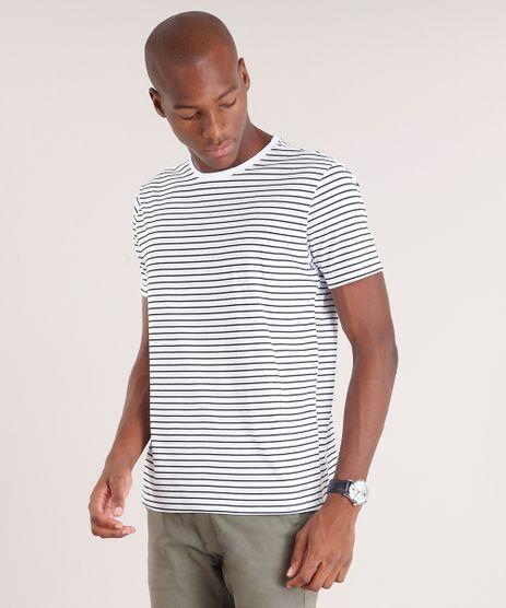 Camiseta-Masculina-Basica-Listrada-Manga-Curta-Gola-Careca-Branca-8819655-Branco_1